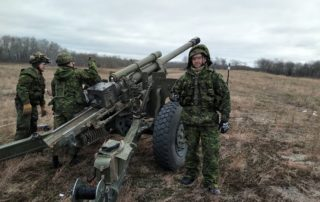 71 Bty, 26 Fd Regt with C3 Howitzer
