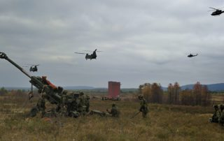 D Bty 2RCHA Heli Ops with M777
