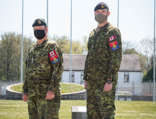 Canadian Gunners at SHAPE Celebrate UBIQUE 150