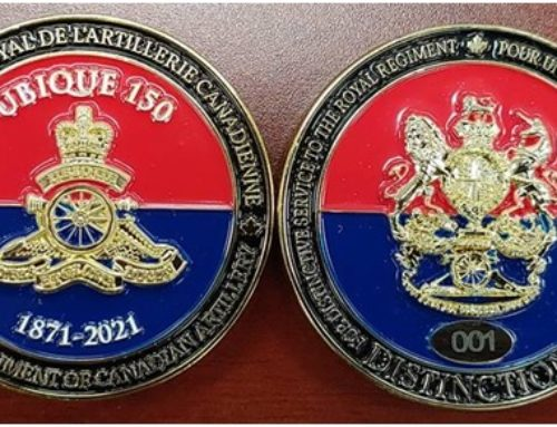 5RALC awards first UBIQUE 150 Commemorative Coin