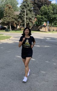 HLCol Jeannette Chau running