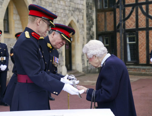 Her Majesty The Queen Honours Her Canadian Gunners
